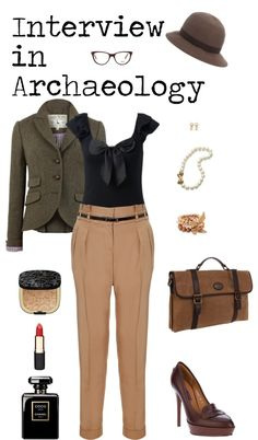 Clothing to Wear in an Interview: Archaeologist  (Not an archaeologist anymore, but pinning this for the memory :) )