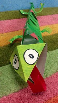 Art with Ms. Kids Art Class, Art For Kids, Mixed Up Chameleon, Chameleon Craft, 4th Grade Art, Grade 3, Second Grade, Reptiles, Lizards