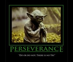 """Try not. Do, or do not. There is no try."" Yoda Those were Yoda's words to Luke Skywalker in The Empire Strikes Back when Luke was stuck, unsuccessful and becoming frustrated with…"