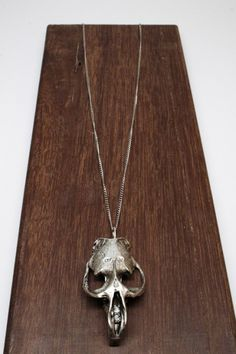VIA CHRISTA MUSKRAT SKULL NECKLACE