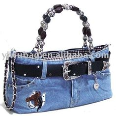 Cute bag out of jeans - minus the horse