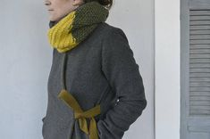 Color block cowl knit neckwarmer circle scarf knit scarf