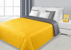 Stalovo-žltý prehoz Eva je dostupný v 4 rozmeroch: 70x150, 170x210, 220x240 alebo 230x260 cm.