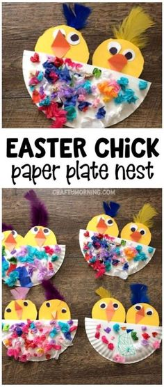 Easter chick craft in a paper plate nest! What a cute easter or spring craft for kids to make. Easter chick craft in a paper plate nest! What a cute easter or spring craft for kids to make. Spring Crafts For Kids, Crafts For Kids To Make, Kids Crafts, Easter Crafts For Preschoolers, Summer Crafts, Creative Crafts, Easter Arts And Crafts, Paper Plate Crafts For Kids, Animal Crafts For Kids