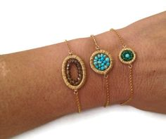 Chain bracelet Smoky quartz adjustable wire wrapped bracelet on Etsy, $50.00