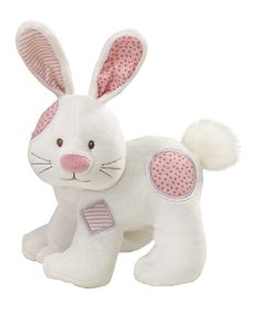 Pink Calico Cutie Bunny Plush Toy | Daily deals for moms, babies and kids