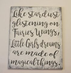 Like Stardust Glistening Little Girls Dreams by RusticlyInspired