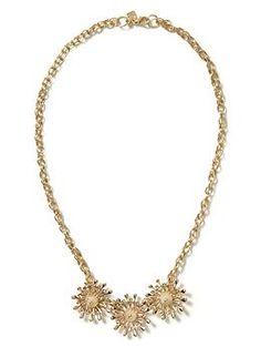 Pinwheel necklace | #BananaRepublic