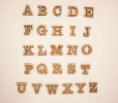 Wooden A-Z Alphabet Letters