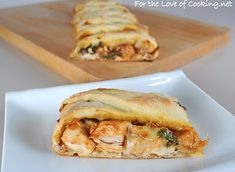 BBQ Chicken Pizza Braid of yum.