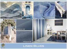 #blue #linen #interiorinspiration #curtain #upholstery #interiors #colors #moodboards #fabrics #natural