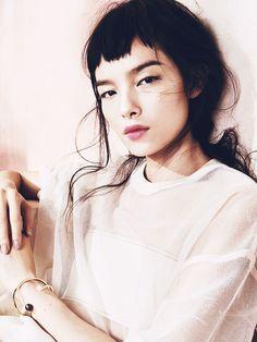 Pink lips — Fei Fei Sun by Sharif Hamza for Vogue China
