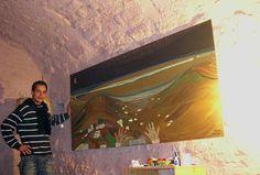 Peinture de Nourédine ZAHRI poète & peintre Le Port-Marly 2008/2009
