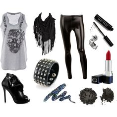 Awesome smart casual glam rock outfit but would rather wear with black jeans.