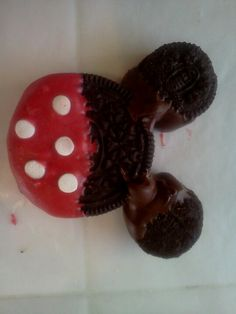 Oreo Mickey and Minnie's. Held together with melted chocolate