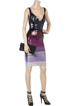 Herve Leger Sequin Dress