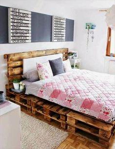 Diy pallet bed pallet bed best pallet bed frames ideas on pallet beds bed diy pallet . Pallet Bedframe, Diy Pallet Bed, Wooden Pallet Furniture, Pallet Ideas, Pallet Projects, Pallet Wood, Diy Projects, Pallet Bench, Outdoor Pallet