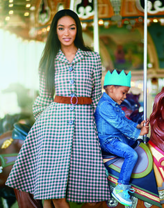 Model Moms and Their Children in Vogue – Vogue Jourdan Dunn and Riley.