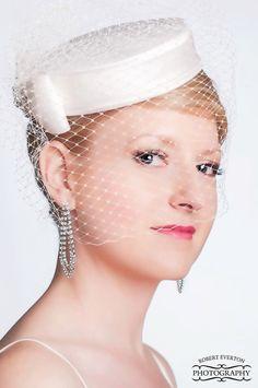 Elegant  Silk Dupioni Pillbox Wedding Hat - Made to Order - Ships in 4 Weeks by AnnLeslie on Etsy https://www.etsy.com/listing/78096011/elegant-silk-dupioni-pillbox-wedding-hat