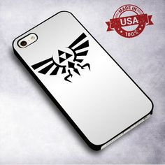 AwesomeLegend of Zelda Triforce Hylian Crest Silver - For iPhone 4/ 4S/ 5/ 5S/ 5SE/ 5C/ 6/ 6S/ 6 PLUS/ 6S PLUS/ 7/ 7 PLUS Case And Samsung Galaxy Case