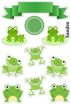 Frog Theme Classroom, Stickers, Edible Printing, Bolo Cake, Preschool Bulletin Boards, Cute Frogs, Animal Birthday, Princess Birthday, Preschool Activities