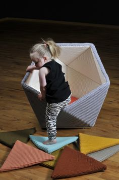 Geometric playscapes. What kid wouldn't want one of these?