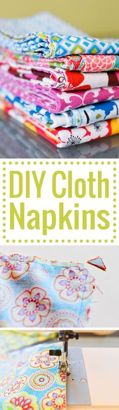 DIY cloth napkins fo