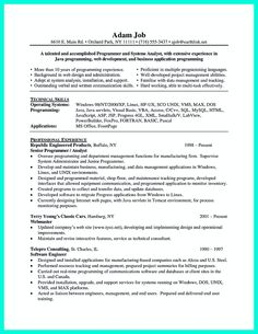 computer programmer resume has some paragraphs that focuses on the project management object oriented programming