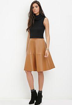 Faux Leather Skirt Uk | Jill Dress