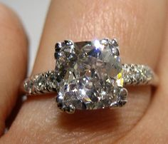 1.79ct Cushion Old Mine, to Old European, Transition Cut Diamond In Circa 1920 Art Deco Original Diamond Engagement ring---way too big for me, but i can just drool at the picture.