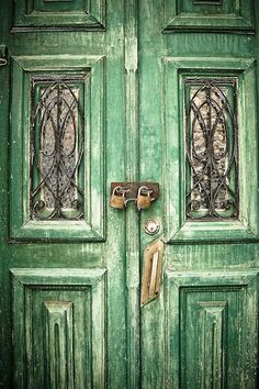 More beautiful doors #green