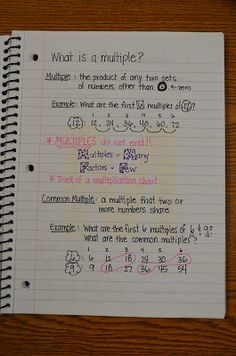 WONDERFUL post on math notebooks with 26 examples..great for anyone who needs ideas!