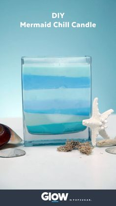 Channel your inner mermaid and chill with this DIY candle.