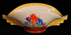 Clarice Cliff Daffodil Bowl in the Crocus pattern.