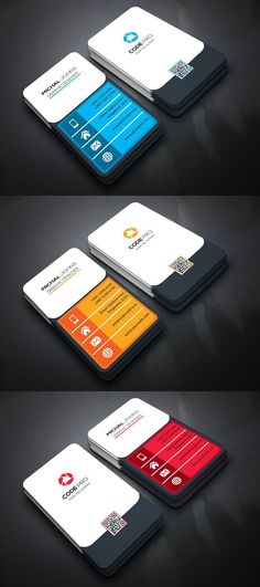 Explore more than business cards to create a professional identity in any field. Choose from standard, square, folded formats in a variety of styles. Vertical Business Cards, Minimal Business Card, Business Card Design, Free Printable Business Cards, Free Business Cards, Visiting Card Design, Bussiness Card, Name Cards, Schedule Design