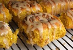 Recipe, grocery list, and nutrition info for Amish Pumpkin Cinnamon Rolls w/ Caramel Icing. The Amish know how to make cinnamon rolls- these are a pumpkin-flavored variety with a caramel icing. Best Cinnamon Rolls, Pumpkin Cinnamon Rolls, Cinnamon Butter, Sugar Pumpkin, Ground Cinnamon, Amish Recipes, Dutch Recipes, Pie Recipes, Delicious Desserts