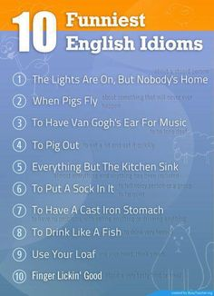 funny #English #idioms