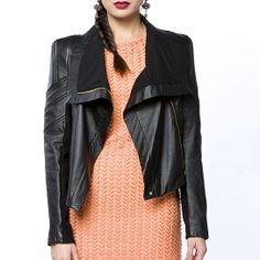 Chloe Leather Moto Jacket