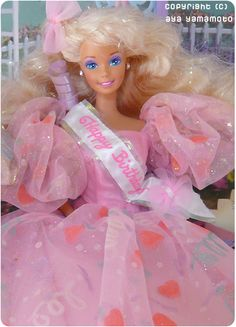 """1990 Happy Birthday Barbie I LOVED her. I kept her even after her head popped off and she had the """"no-neck"""" surgery"""