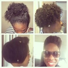 My natural hair journey hasn't been easy but I have no regrets. I'm telling you ladies this natural stuff has a mind of its own, but you have to invest time in order to get to know it.   The one thing I love about my natural hair is its versatility. I can rock an afro (not ready to do this just yet), put it in a funky style, rock a twist/braid out, straighten it or just simply wear it up. So be encouraged ladies and embrace your natural hair.  #highpuff #twistout #straight #updo