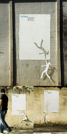 http://socialvertising.files.wordpress.com/2011/03/socialvertising_suicide.jpg  Com' incongrue / attirer l'attention et la curiosité / de la 2d à la 3d