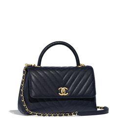b6ddd7b98b43 Grained Calfskin & Gold-Tone Metal Black Small Flap Bag with Top Handle. Chanel  Coco HandleCoco ChanelHermes ...