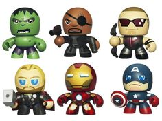 Avengers Mini Muggs -- 4 Targets later and I finally found Thor! Now only missing Hawkeye and Fury...
