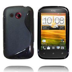 Solid S-Line (Sort) HTC Desire C Deksel