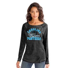 Carolina Panthers Touch by Alyssa Milano Women's 2015 NFC Conference Champions Second Season Long Sleeve T-Shirt - Black