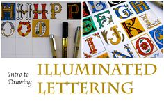 How To Draw Illuminated Letters. I really enjoyed the way she did voiceover work for her visual tutorial.