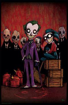 Joker and Harley art