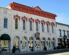 The Granbury Opera House, constructed in 1886. The restored building is on Granbury's town square and hosts musicals and other performances, Granbury, TX. (Richard S. Buse photo)