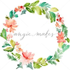 Cute Christmas Wreath. Painted Christmas Wreath - Angie Makes Stock Shop