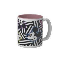 Mickey Pattern 4 Coffee Mugs